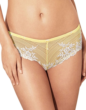 Embrace Lace Tanga Panty in Pale Banana/White Alyssum