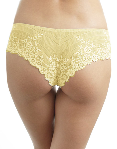 3021048a45c1 ... Embrace Lace Tanga Panty in Pale Banana/White Alyssum, Back View