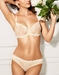 Embrace Lace Underwire Bra and Hi-Cut Brief in Sand/Ivory