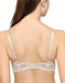 Embrace Lace Underwire T-Shirt Bra in Sand/Ivory, Back View