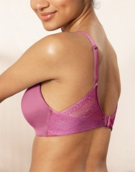 Future Foundation Wire Free T-Shirt Bra with Lace in Red Violet