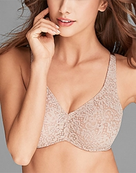 Halo Lace Full Figure Underwire Bra in Toast