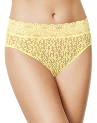 Halo Lace Hi-Cut Brief Panty in Pale Banana