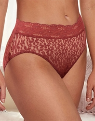 Halo Lace Hi-Cut Brief Panty in Red Pear