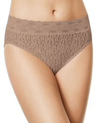 Halo Lace Hi-Cut Brief Panty in Roebuck