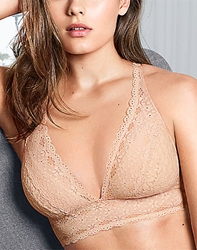 Halo Lace Wire Free Convertible Bra in Sand