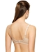 How Perfect Full Figure Wire Free Bra, Back View in Sand