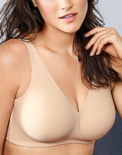 How Perfect Full Figure Wire Free Bra in Sand