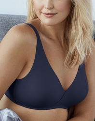 How Perfect Full Figure Wire Free Bra in Patriot Blue