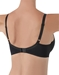 La Femme Underwire T-Shirt Bra, 3/4 back view in Black