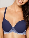 Lace Affair T-Shirt Bra in Patriot Blue/Halogen Blue