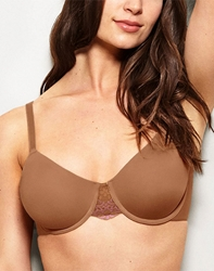 Lace Impression Seamless Underwire Bra in Cognac