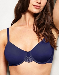 Lace Impression Seamless Underwire Bra in Patriot Blue