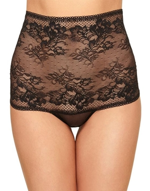 Lace to Love High Waist Thong in Black