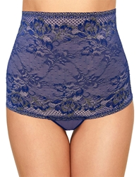 Lace to Love High Waist Thong in Twilight Blue