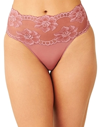 Light and Lacy Hi-Cut Brief in Mesa Rose