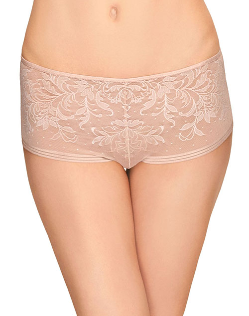 Wacoal Net Effect Boyshort in Rose Dust