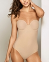 Wacoal Red Carpet Strapless Bodysuit in Sand