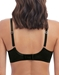 Wacoal Respect Underwire Bra in Black with Champagne, Back View