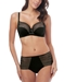 Wacoal Respect Underwire Bra and Matching Brief in Black with Champagne