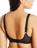 Simple Shaping Full Coverage Underwire Minimizer Bra, Back View in Black