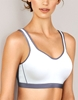 Wacoal Sport Underwire Bra in White/Lilac Gray
