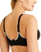 Wacoal Sport Wire Free Bra in Black/Lilac Gray, Back View