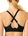 Wacoal Sport Wire Free Bra in Black/Lilac Gray, Back View Crisscrossed