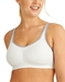 Wacoal Sport Wire Free Bra in White/Lilac Gray