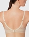Ultimate Side Smoother T-Shirt Bra, back view in Sand