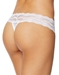 b.tempt'd Lace Kiss Thong in White, Back View