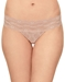 b.tempt'd Lace Kiss Thong in Rose Smoke
