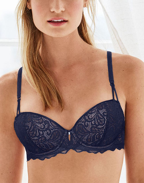 B.Tempt'd Undisclosed Underwire T-Shirt Bra in Patriot Blue