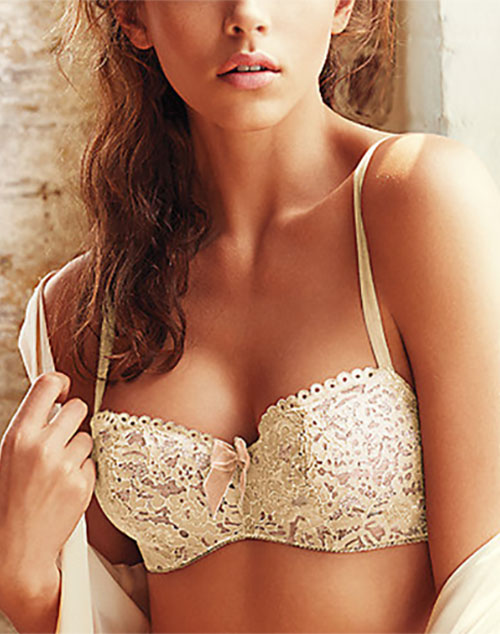 Ciao Bella Balconette Underwire Bra in Vanilla Ice
