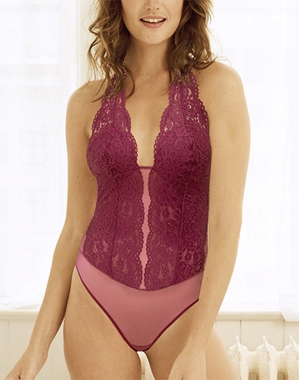b.tempt'd by Wacoal, Ciao Bella Bodysuit in Magenta Purple