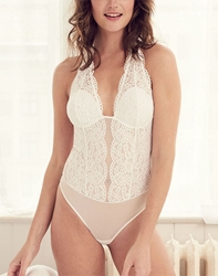 b.temptd by Wacoal, Ciao Bella Bodysuit in White