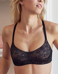 Future Foundation All Lace Wire Free Balconette Bra in Night