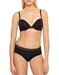 B.Tempt'd Tied in Dots T-Shirt Underwire Bra and Matching Bikini in Night