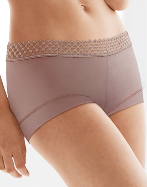 b.tempt'd Tied in Dots Boyshort Panty in Antler