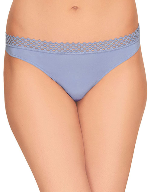 b.tempt'd Tied in Dots Thong in Pale Iris