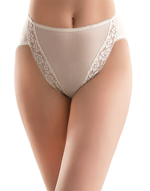 Bodysuede Hi-Cut Brief in Ivory